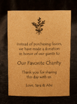 Instead of giving wedding favors to your guests, make a donation to ...